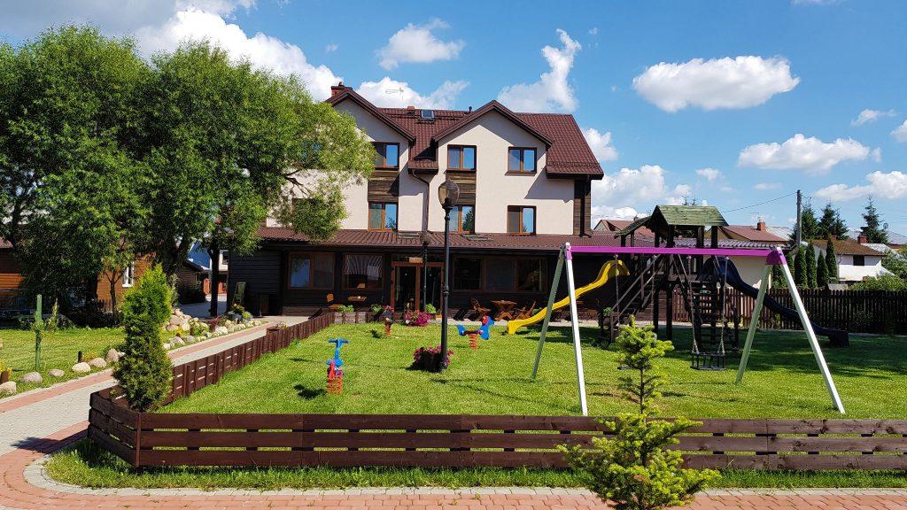 Villa Skomanda w Augustowie jeziora lasy